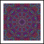 MANDALA IN PURPLE AND BLUE TONES, Digital Art / Computer Art, Abstract,Hallucinogens, Composition,Decorative, Digital, By Monica Amorim Gutmann