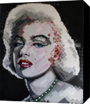 Marilyn Monroe, Paintings, Impressionism, Portrait, Acrylic, By Curtis Dickman