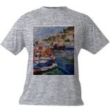Marina, Paintings, Fine Art,Realism, Land Art,Landscape,Seascape, Canvas,Oil,Painting, By Kateryna Bortsova
