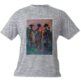 market palaver, Paintings, Impressionism, Inspirational, Acrylic,Canvas, By Ernest larbi Budu