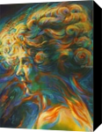 Mary Pickford - 13-09-17, Paintings, Abstract,Cubism,Fine Art,Surrealism, Anatomy,Composition,Fantasy,Figurative,Inspirational,People,Portrait, Oil, By Corne Akkers