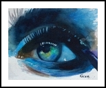 Mascara, Paintings, Impressionism, People, Watercolor, By Christina Giza