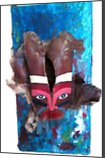 MASK, Assemblage, Primitive, 3-D, Fantasy, Found Objects, Multicultural / Ethnic, Nature, The Primative, Acrylic, Mixed, By Susan Kemp Maldonado