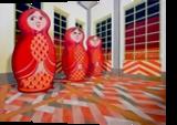 Matryoshka, Paintings, Surrealism,Symbolism, Figurative, Canvas,Oil, By federico cortese