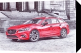 mazda 6, Drawings / Sketch,Illustration,Paintings, Photorealism,Realism, Architecture,Cityscape,Machnine Forms, Painting, By Oleg Kozelskiy