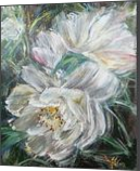 MEET ME AT FRONT YARD - While Camellia, Paintings, Abstract,Expressionism,Modernism, Avant-Garde,Botanical,Floral,Nature,Still Life, Acrylic,Canvas, By HSIN LIN