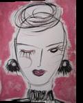 Melanie, Paintings, Fauvism,Minimalism,Modernism,Primitive, Portrait, Acrylic,Painting, By Lianne Kocks