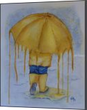 Melting Umbrella, Illustration,Paintings, Abstract,Expressionism,Fine Art, Children,Decorative,Fantasy,Moving Images,Portrait, Painting,Watercolor, By Kelly A Mills