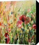 Memory of Summer, Paintings, Fine Art, Botanical,Floral,Landscape,Nature, Acrylic,Canvas, By Marta Kuźniar