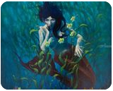 Mermaid, Paintings, Fine Art,Hallucinogens,Realism, Decorative,Environmental art,Fantasy,Figurative,Mythical,People,Seascape,Wildlife, Oil,Painting,Wood, By robert G corsetti