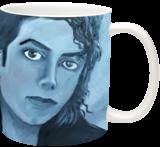 Michael Jackson - Portrait, Illustration,Paintings, Expressionism,Realism, Composition,Inspirational, Canvas,Oil,Painting, By Berthold von Kamptz