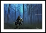 MidKnight Ride, Digital Art / Computer Art, Fine Art,Medievalism, Composition,Fantasy,Inspirational,Mythical,People, Digital, By Sandy Richter