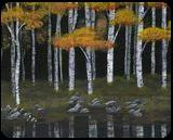 Midnight Reflections, Paintings, Abstract, Landscape, Acrylic, By Kelsey Elizabeth VandenHoek