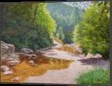Midsummer, Paintings, Fine Art,Impressionism,Realism, Landscape,Nature, Oil,Wood, By Dejan Trajkovic