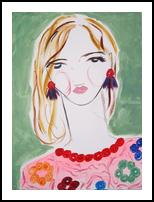 Millie, Paintings, Abstract,Impressionism,Minimalism,Modernism,Primitive, Portrait, Acrylic, By Lianne Kocks