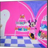 Minnie Mouse in Boutique, Animation, Chance, Cartoon, Acrylic,Canvas, By Loretta Hon