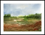 Misty green, Paintings, Impressionism, Landscape, Watercolor, By Thanin Sriwang