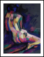 Model session @ Rotterdam - 19-11-17, Drawings / Sketch, Abstract,Cubism,Expressionism,Fauvism,Fine Art,Impressionism, Anatomy,Composition,Erotic,Figurative,Inspirational,Nudes,People, Pastel, By Corne Akkers
