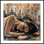 Modern Art (Deep Dreams), Paintings, Abstract, Figurative, Acrylic,Canvas, By Gurdish Pannu