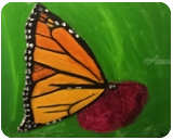 Monarch Butterfly, Paintings, Impressionism, Animals, Oil, By MD Meiser