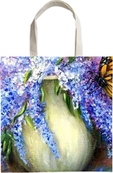 Monarch of the Lilace, Paintings, Fine Art,Impressionism,Realism, Botanical,Still Life,Wildlife, Oil, By Loretta D Luglio