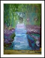 Monet's Garden, Paintings, Impressionism, Botanical, Oil, By MD Meiser