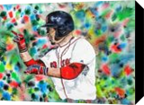 Mookie Betts, Paintings, Fine Art, Portrait, Watercolor, By james Allen lagasse
