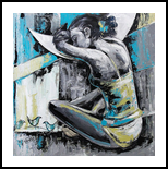 Moon of desires, Paintings, Abstract, Figurative, Acrylic, By Gurdish Pannu