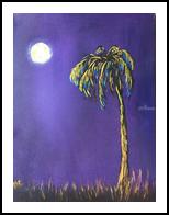 moonlight, Paintings, Minimalism, Landscape, Acrylic,Canvas, By Judith Akli