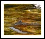 Moonlight Desert in Antique Eastlake Wood Frame, Glass, Impressionism, Landscape, Glass, By HIlda Hayson