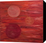 Moons of my Mind, Drawings / Sketch, Abstract, Decorative, Oil,Painting, By Aaron Leslie Ellisor