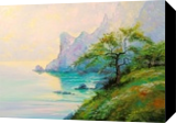 Morning by the sea, Paintings, Impressionism, Botanical,Land Art,Landscape,Nature,Seascape, Canvas,Oil,Painting, By Olha   Vyacheslavovna Darchuk