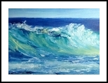 Morning Surf, Paintings, Impressionism, Tropical, Oil, By fred wilson