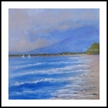Morning Surf, Paintings, Realism, Tropical, Oil, By fred wilson