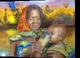 Mother Africa, Paintings, Realism, Figurative, Acrylic, By Luz Celeste Figueroa