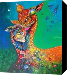 mother and child, Paintings, Fine Art, Animals,Fantasy,Figurative, Canvas, By sanjay g punekar