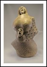 mother6 (1-2015h), Sculpture, Primitive, Figurative, Ceramic, By PEDRO A MONGRUT