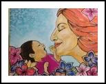 Motherhood, Decorative Arts, Primitive, People, Acrylic, By Paula Valeria Fridman