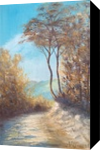 Mountain trail, Paintings, Fine Art, Impressionism, Landscape, Nature, Oil, Wood, By Angela Suto