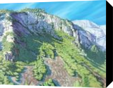 Mountaintop Yosemite, Paintings, Impressionism, Landscape, Canvas,Oil, By Mason Mansung Kang