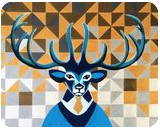 Mr. Deer, Paintings, Abstract, Animals, Acrylic, By Lucyanne Driusi Terni