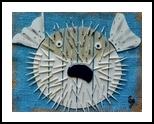 Mr. Pufferfish, Assemblage, Pop Art, Nature, Mixed, By Briz Conard