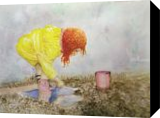 Mud Pies, Paintings, Realism, Children, Painting, By William Clark