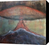 Mushroom Island, Paintings, Abstract,Futurism, Fantasy,Landscape,Seascape, Acrylic,Canvas, By Kenneth E Parker