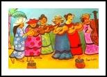 Music Melee, Folk Art, Primitive, Music, Acrylic, By Lydia Matias