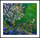 My garden in spring, Paintings, Expressionism, Landscape, Canvas, By Pol Henry Ledent
