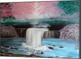 My Waterfall Garden, Land Art,Paintings, Fine Art, Botanical,Floral,Landscape, Canvas,Oil,Painting, By Lana karin Fultz