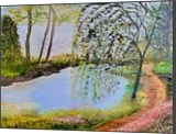 My Willow Tree Garden, Land Art,Paintings, Fine Art,Realism, Botanical,Landscape, Canvas,Oil,Painting, By Lana karin Fultz