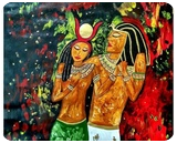 Mystic Love, Paintings, Fine Art, Fantasy,Historical,Mythical, Acrylic, By Smita Biswas