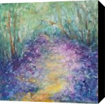 Mystic meadow, original spring forest oil painting, Paintings, Fine Art,Impressionism,Modernism, Land Art,Landscape,Moving Images,Nature, Oil,Painting, By Emilia Milcheva